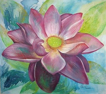 Flor em Estilo - Técnica Mista - Cláudia Verônica