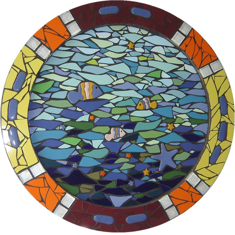 Mandala dos Peixes - Mosaico - Cláudia Verônica