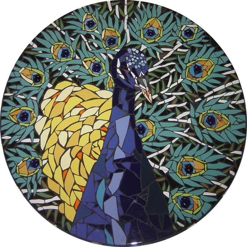 Pavão - Mosaico - Cláudia Verônica