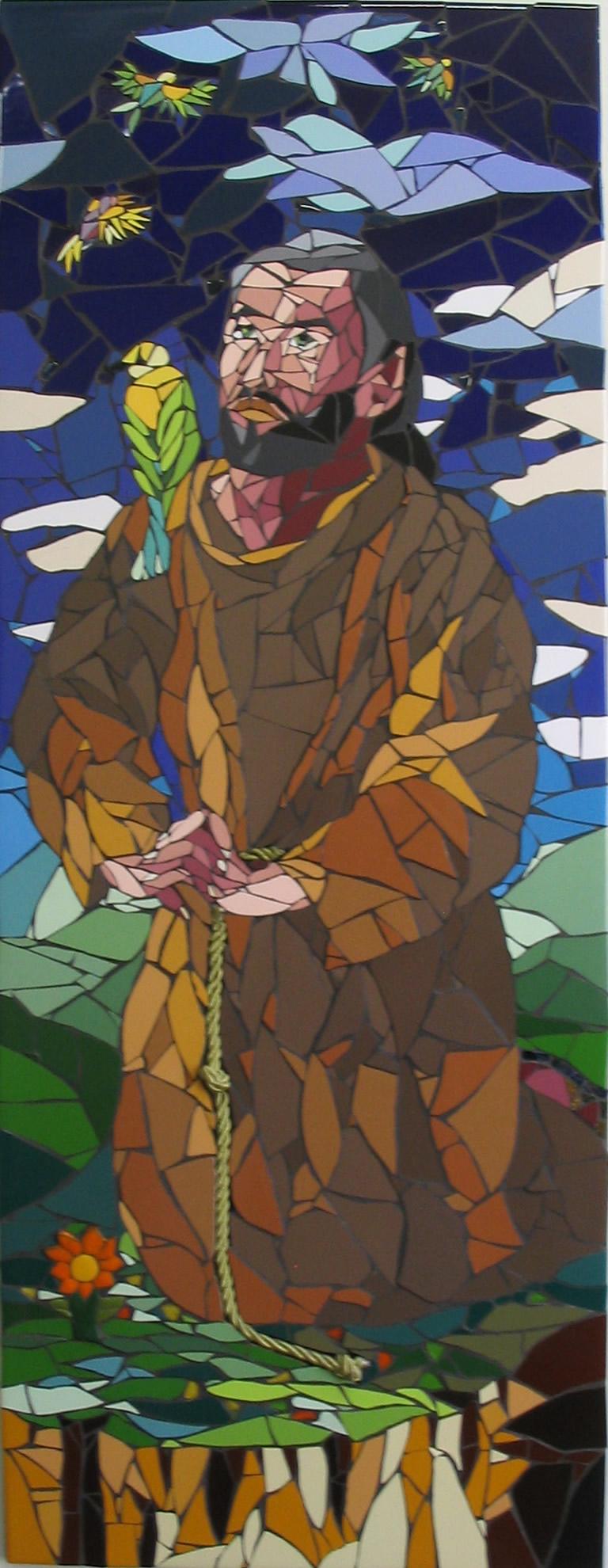 São Francisco de Assis - Mosaico - Cláudia Verônica