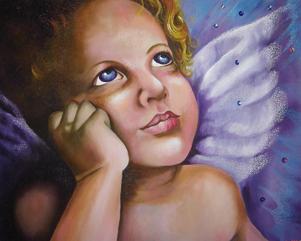 Sonho de um Anjo - Acrílica sobre Tela - Cláudia Verônica.2005