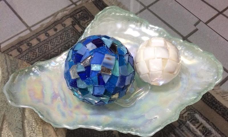 Mosaico - Bolas Decorativas - Cláudia Verônica